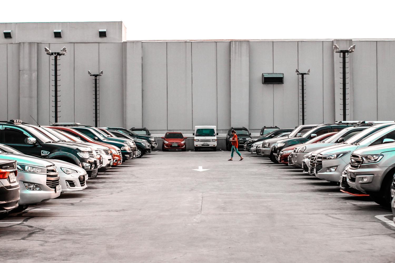 Car, Automobile, Vehicle, Transportation, Person, Parking Lot, Parking, Wheel, Machine