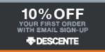 Descente promo codes