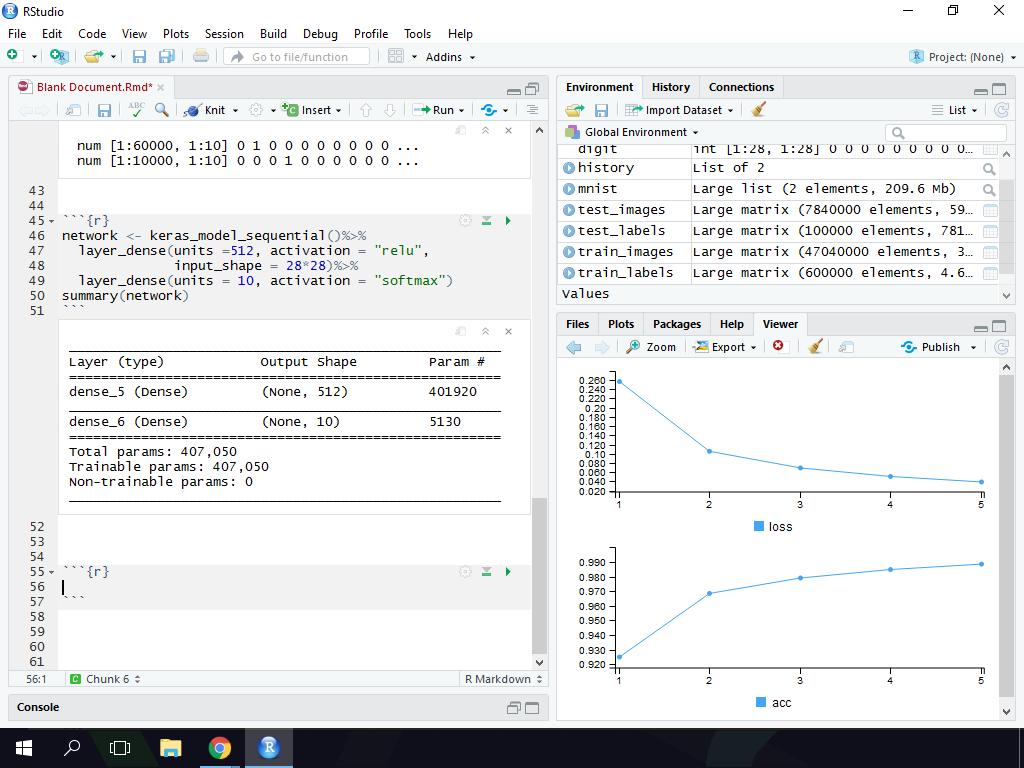 Loss Optimizer and Model Run