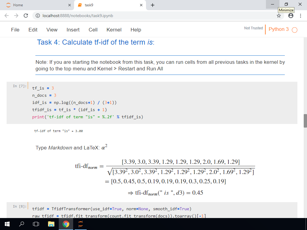 Calculate TF-IDF of the Term 'Is'