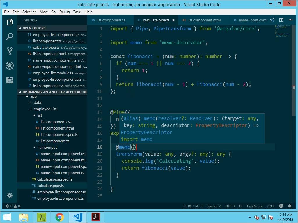 Using Memoization with ECMAScript Decorators