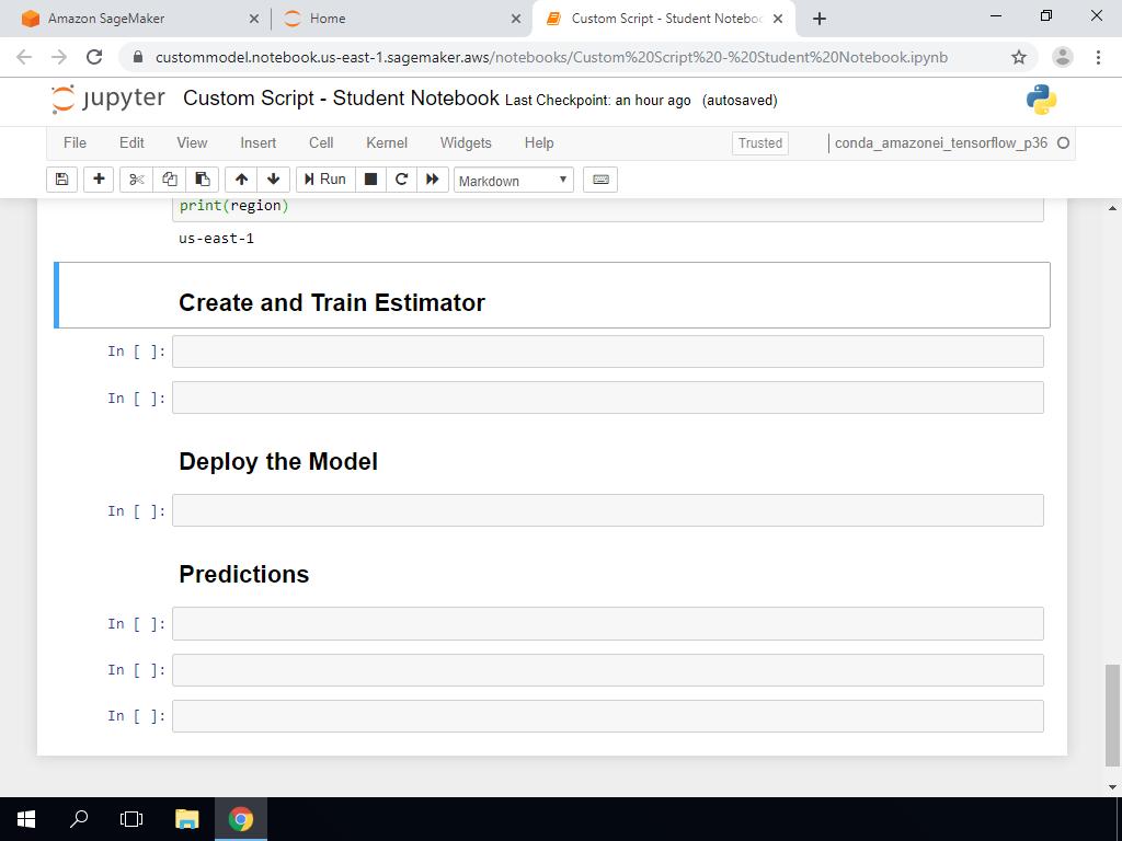 Create and Train Estimator