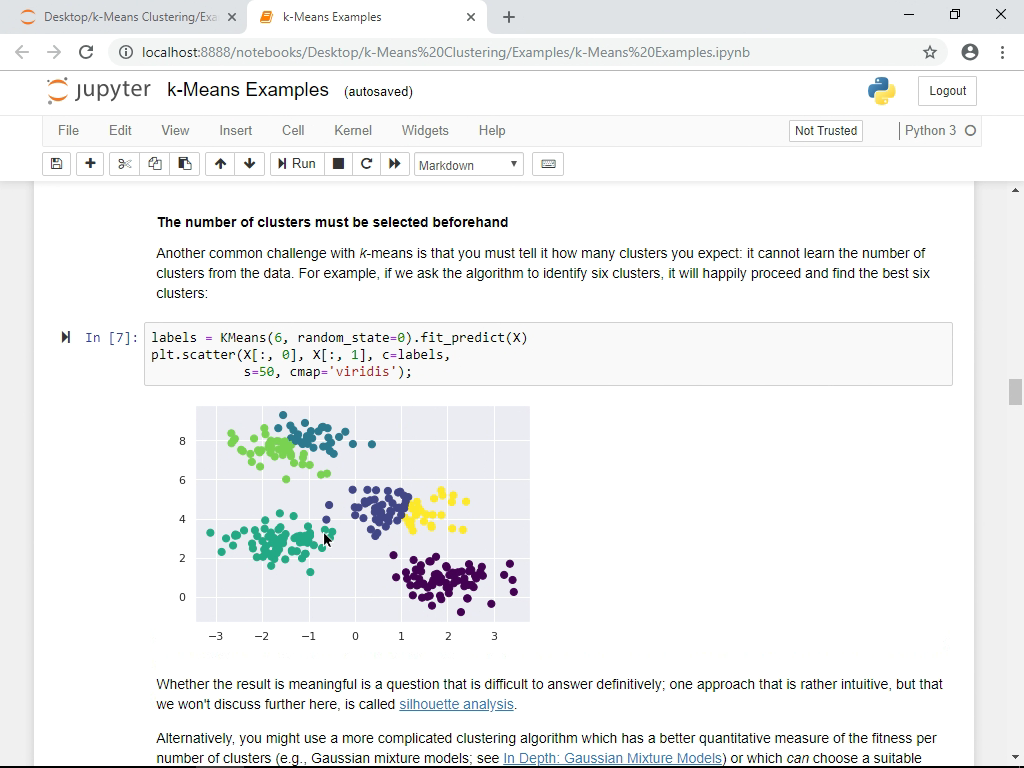 scikit-learn: Theory of K-Means Clustering