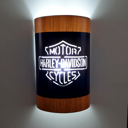 Abajur Luminária Arandela de parede Harley Davidson