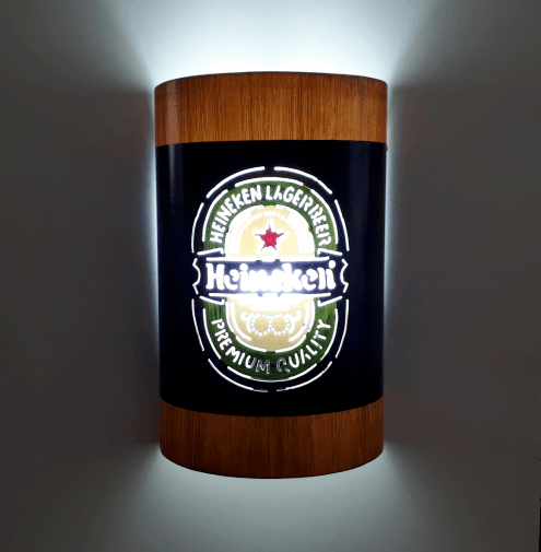 Abajur Luminária Arandela de parede Heineken