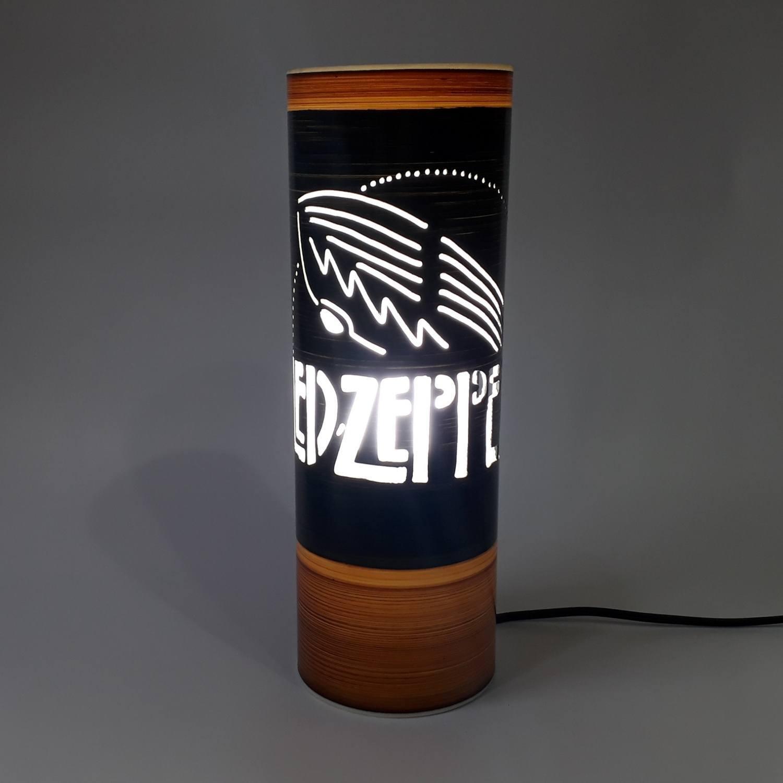 Abajur Luminária Bivolt Led Zeppelin