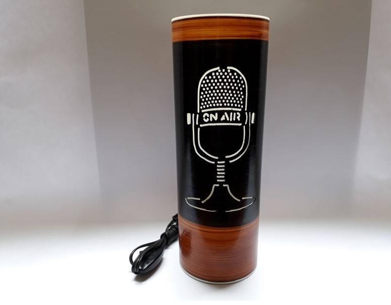 Abajur Luminária Bivolt Microfone