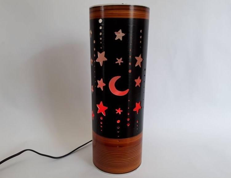 Abajur Luminária Bivolt Lua e Estrelas