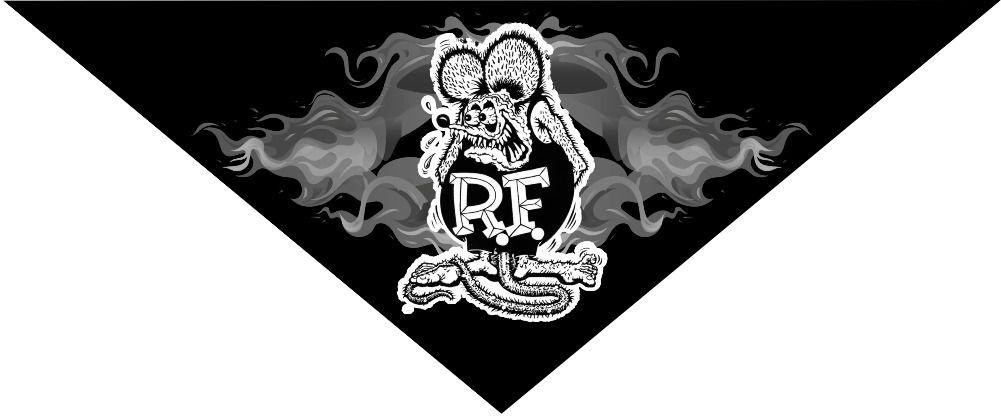 Bandana Rat Fink Flame