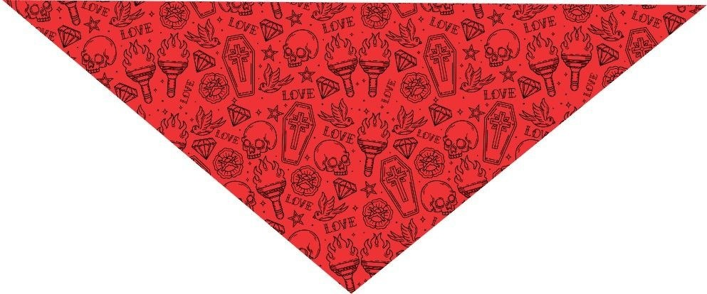BANDANA TATTOO OLD SCHOOL - VERMELHA