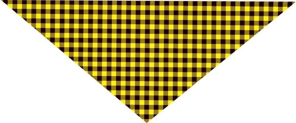 Bandana Xadrez Amarela