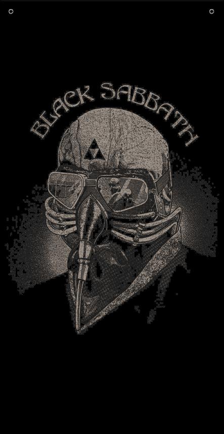 BANDEIRA TOALHA - BLACK SABBATH - NEVER SAY DIE