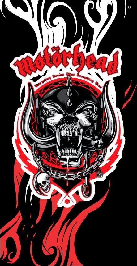 BANDEIRA CAPA - MOTORHEAD - BLACK AND RED
