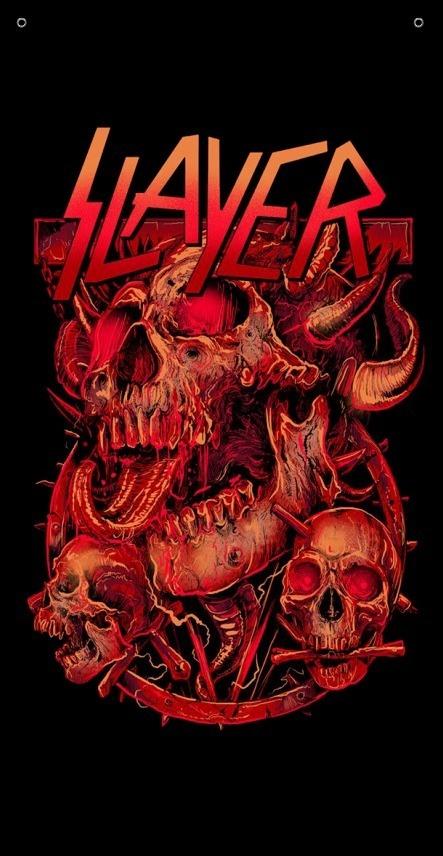 BANDEIRA TOALHA - SLAYER - DEVILS
