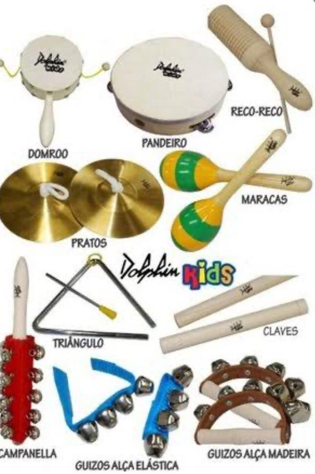 Bandinha com 10 Instrumentos Infantis com Bolsa Dolphin