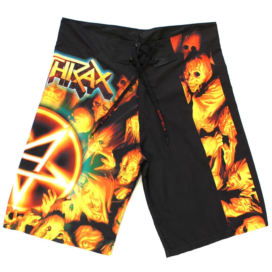 Bermuda Masculina Anthrax- Worship Music - Bloody Hell Clothing