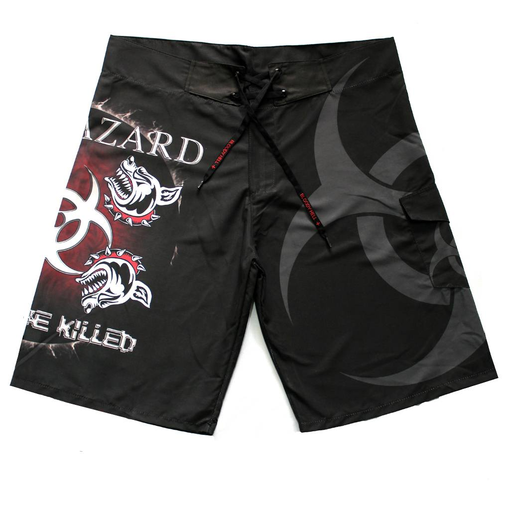 Bermuda Masculina Biohazard - Kill or Be Killed - Bloody Hell Clothing