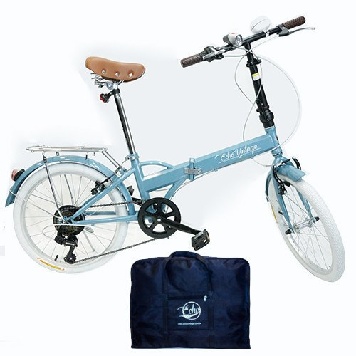 Bicicleta Dobrável Fênix azul + Bolsa Para Transporte