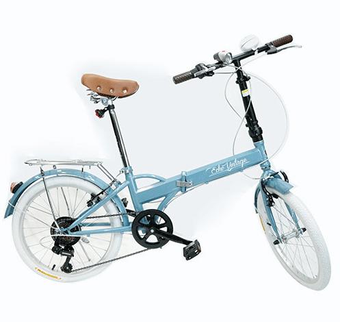 Bicicleta Dobrável Fenix azul - Kit Marcha Shimano - 6 Velocidades