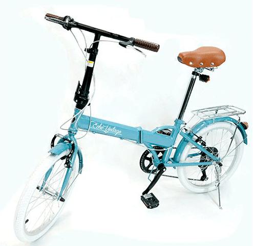 Bicicleta Dobrável Fenix azul Light - Kit Marcha Shimano - 6 Vel