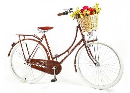 Bicicleta Vintage Retrô - Ísis Plus Dark Wood - Kit Marcha Nexus Shimano - Feminina Aro 28