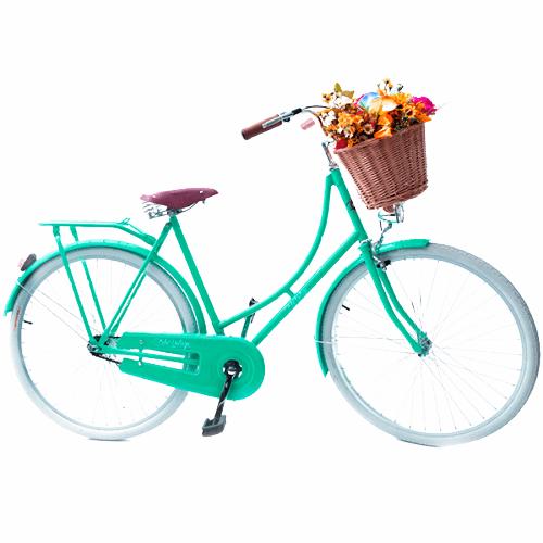 Bicicleta Vintage Retrô - Ísis Plus verde - Kit Marcha Nexus Shimano - Feminina Aro 28