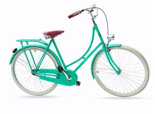 Bicicleta Vintage Retrô Masculina - Ícaro - Verde - Kit Marcha Nexus Shimano - 3 Velocidades