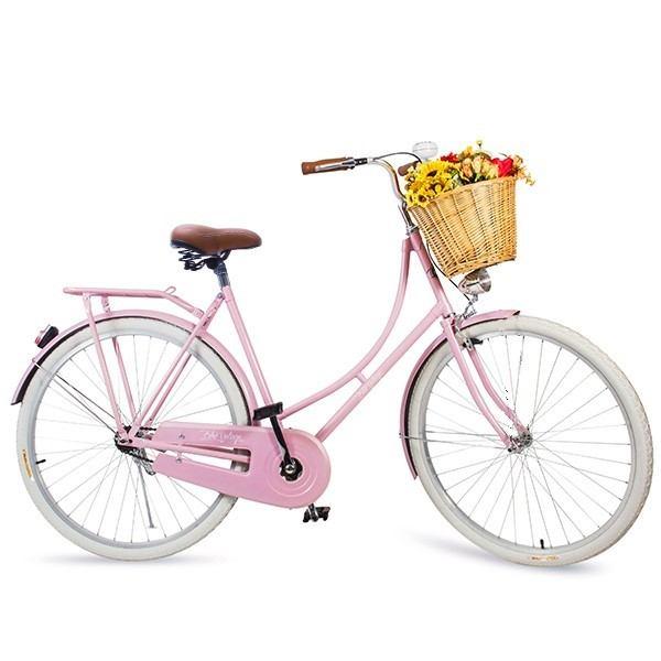 Bicicleta Vintage Retrô  Vênus Rosa Feminina Aro 26 com brinde mini bolsa
