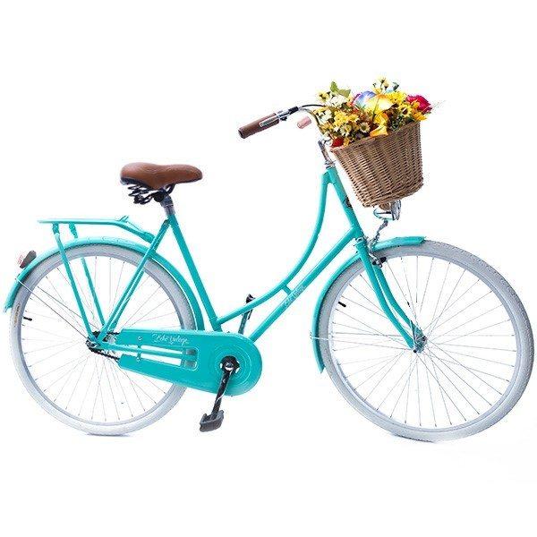 Bicicleta Vintage Retrô Vênus verde Feminina Aro 28 com brinde mini bolsa