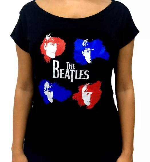 Blusa Feminina Modelo Canoa  - The Beatles