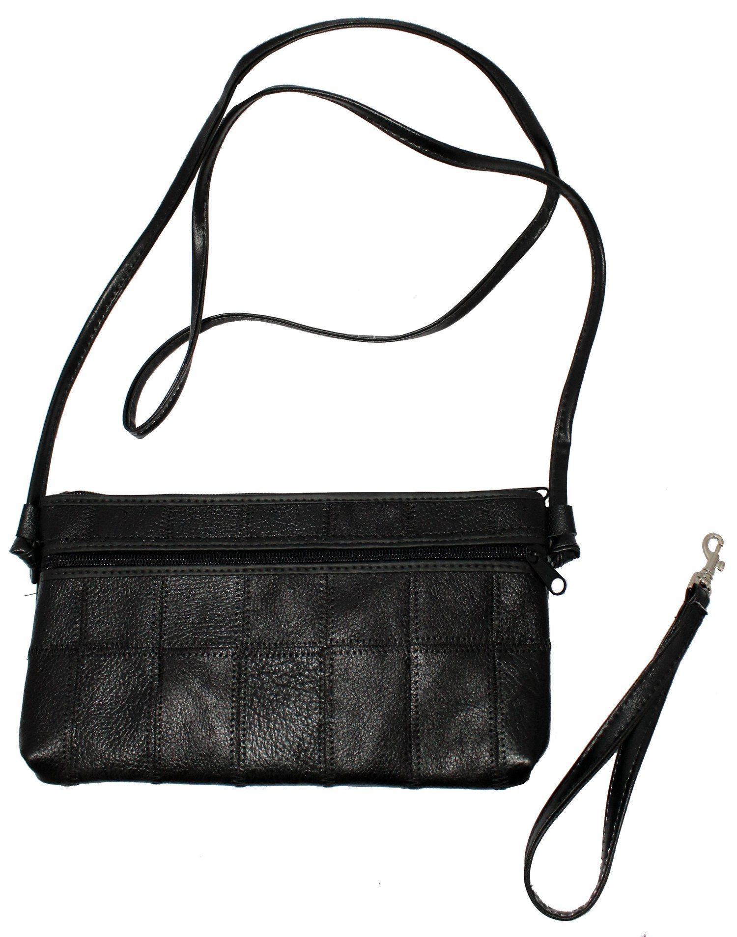 Bolsa em retalho de couro Tranversal Alça de mão