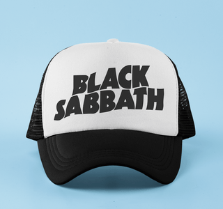 Boné aba curva trucker Black Sabbath