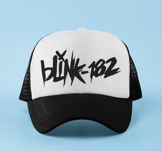 Boné aba curva trucker Blink 182