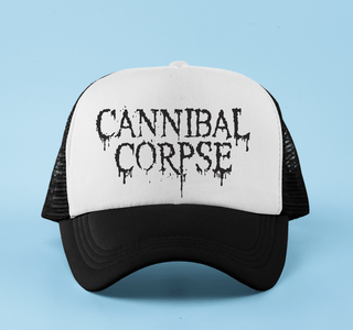 Boné aba curva trucker Cannibal Corpse
