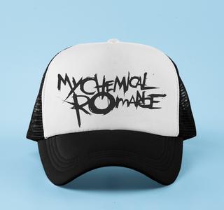 Boné aba curva trucker My Chemical Romance
