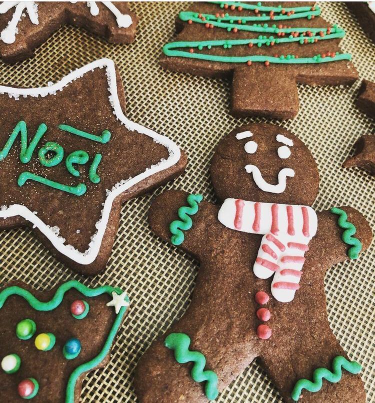 Caixa Biscoitos Decorados Gingerbread  Merry Christmas - 08 unidades