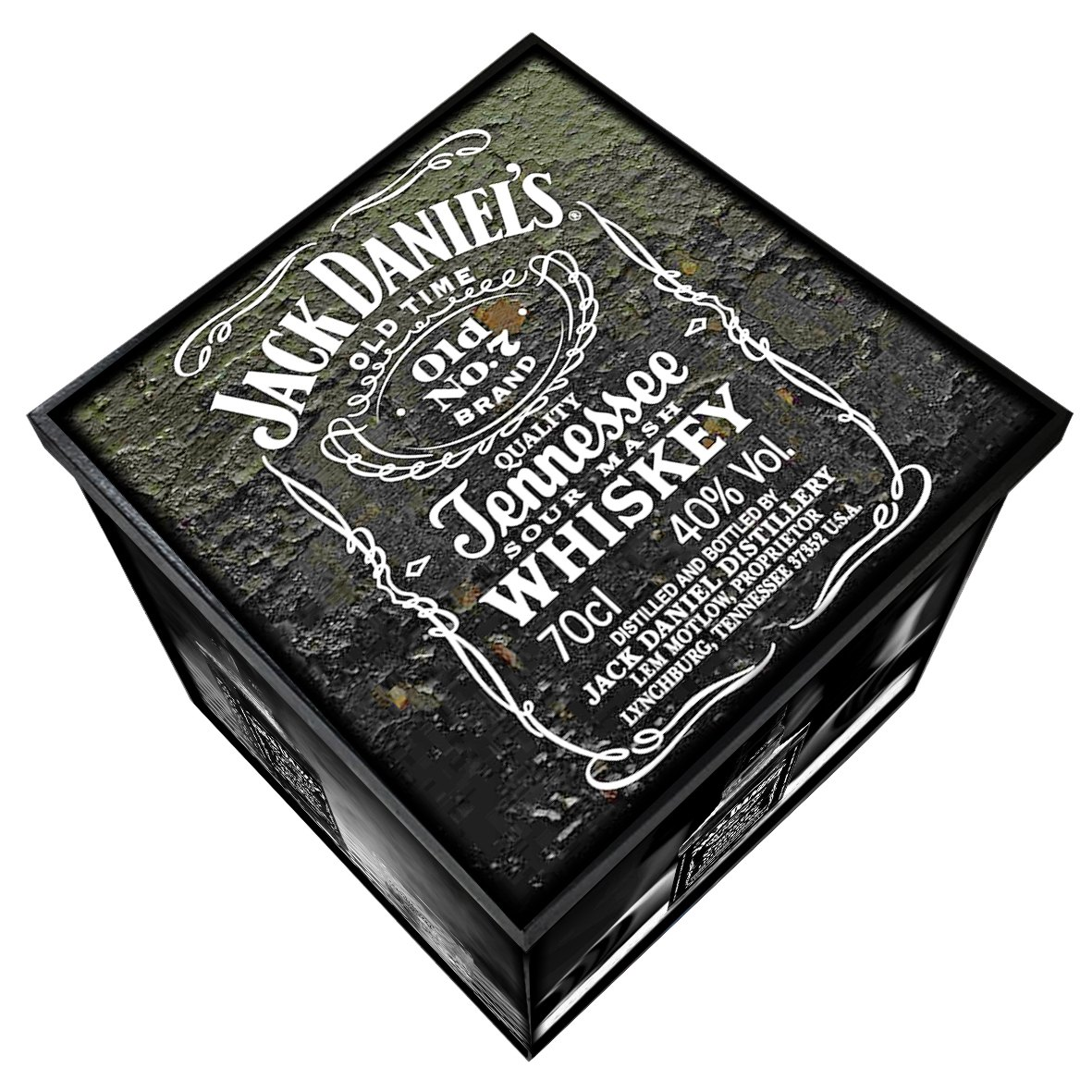 Jack Daniel's - Caixa Organizadora em Madeira MDF - Tamanho Grande - Mr. Rock