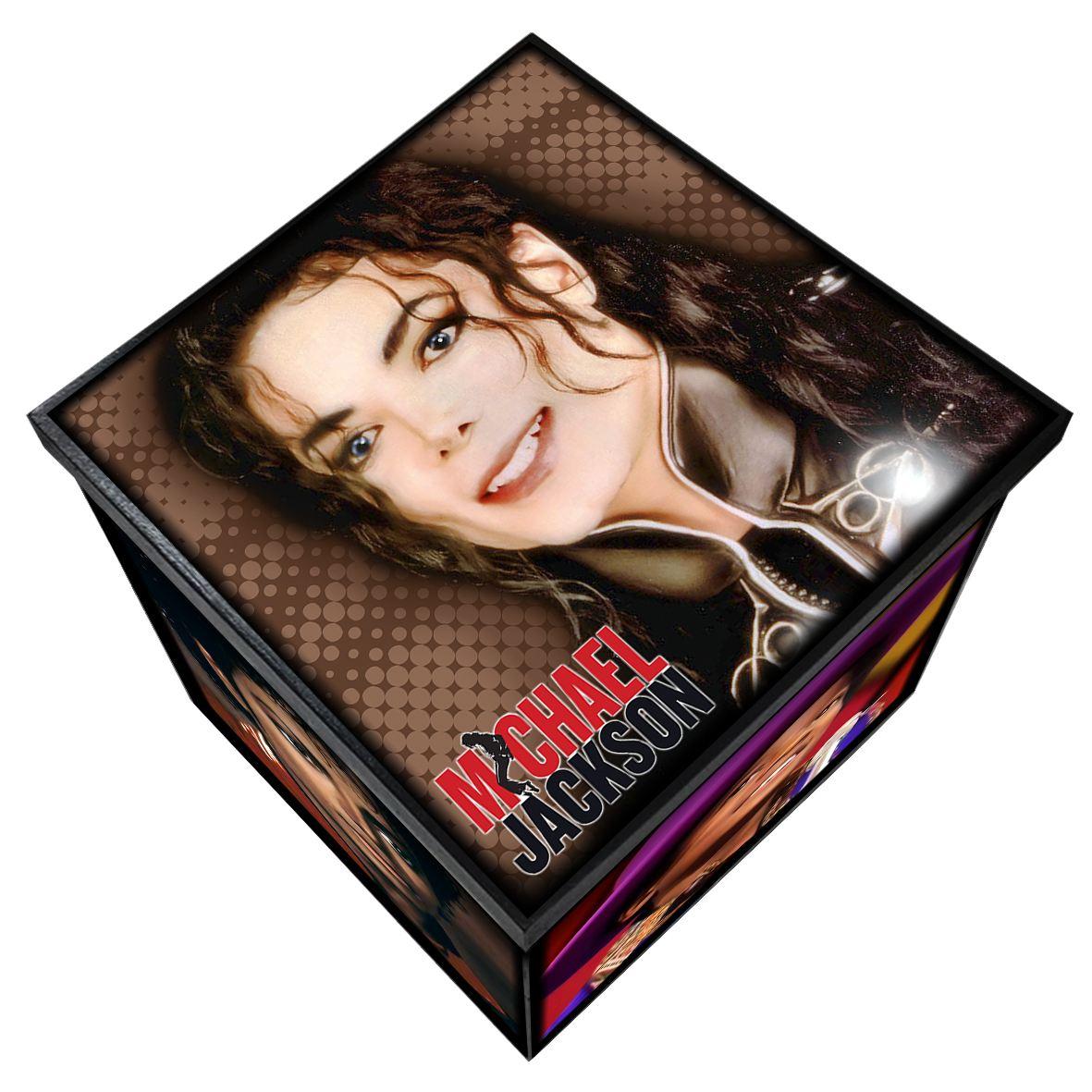 Michael Jackson - Caixa Organizadora em Madeira MDF - Tamanho Grande - Mr. Rock