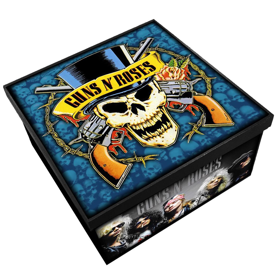 Guns N' Roses - Caixa Organizadora em Madeira MDF - Tamanho Médio - Mr. Rock
