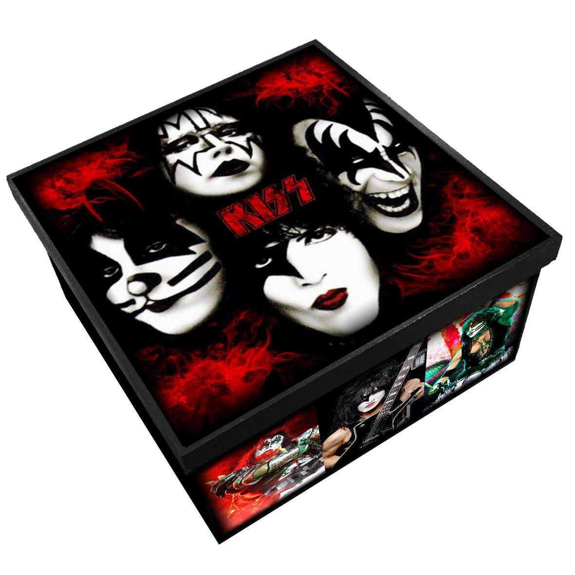 Kiss - Caixa em Madeira MDF - Tamanho Médio - Mr. Rock