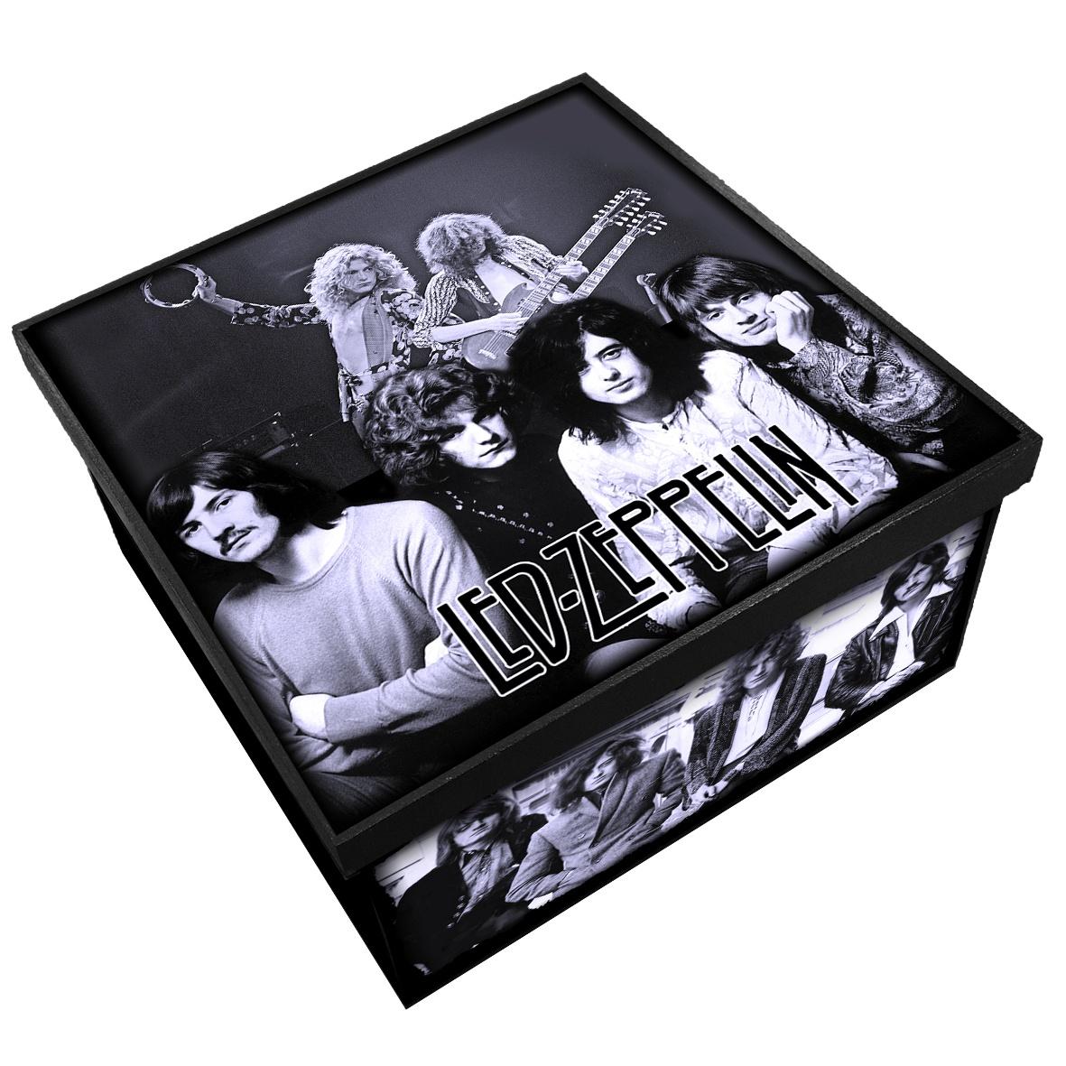 Led Zeppelin - Caixa em Madeira MDF - Tamanho Médio - Mr. Rock
