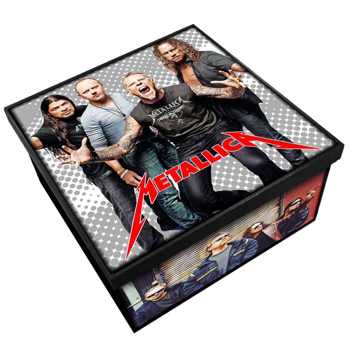 Metallica - Caixa em Madeira MDF - Tamanho Médio - Mr. Rock