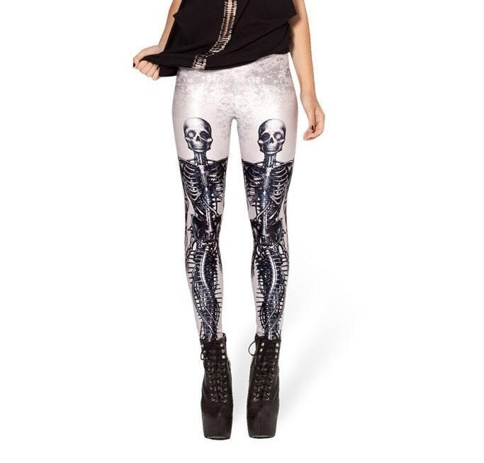Calça Legging Esqueleto Sereia Mecanica Branca