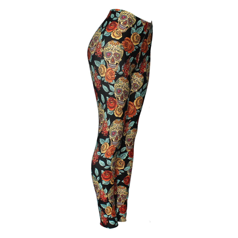 Calça Legging Feminina Caveira Mexicana - Bloody Hell Wear