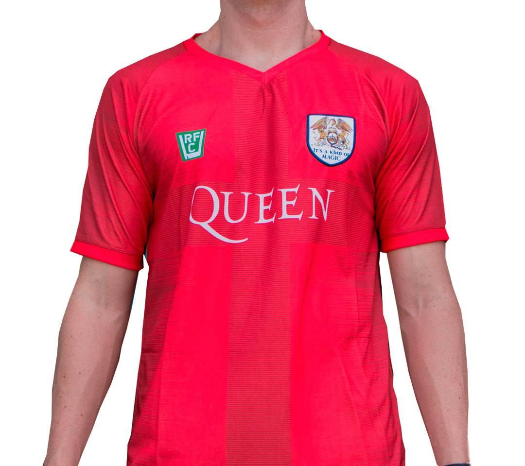 Camisa masculina Queen estilo futebol malha 100% poliester Dry Fit