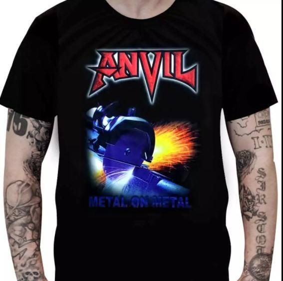 Camiseta Anvil - Metal on Metal