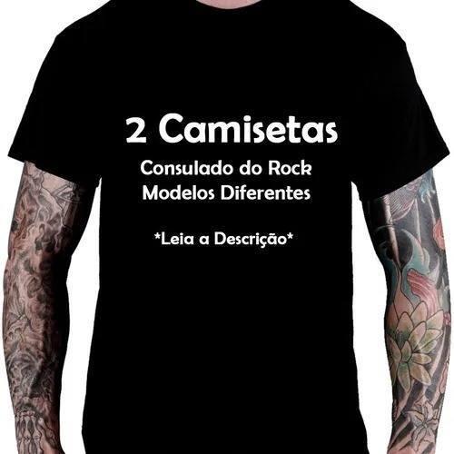 Camiseta Bandas Consulado Do Rock - 2 unidades
