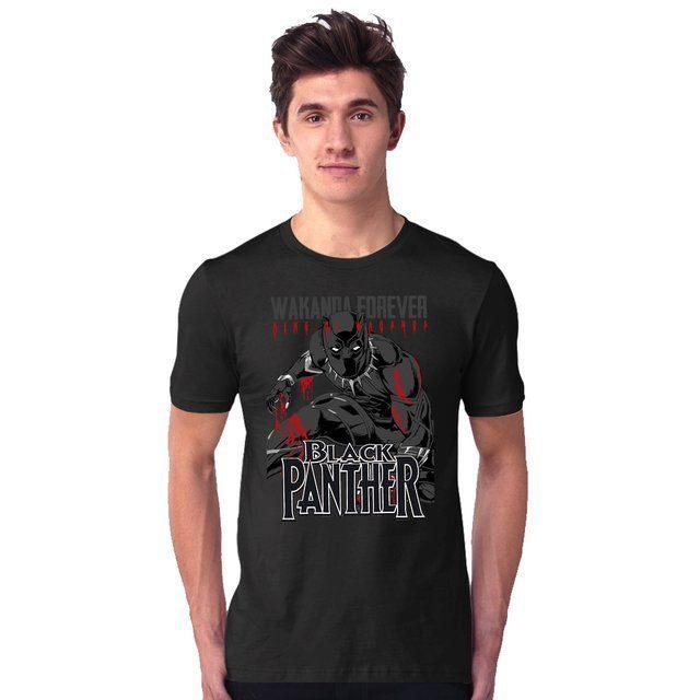 Camiseta Unissex Black Panther Wakanda Forever - eFull Camisetas