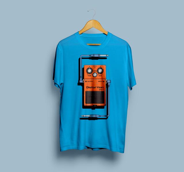 Camiseta Pedaleira Boss Distortion - Vortex