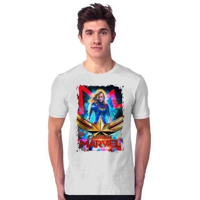 Camiseta Unissex Captain Marvel Origen - eFull Camisetas